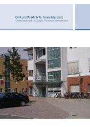 Qualitätsbericht der Klinik und Poliklinik für Innere Medizin C