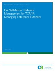 CA NetMaster® Network Management for TCP/IP ... - CA Technologies