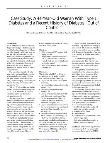 Case Study: A 44-Year-Old Woman With Type 1 ... - Clinical Diabetes