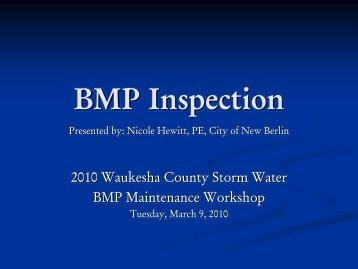 BMP Inspection - Waukesha County