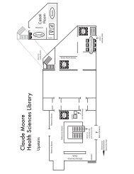Floorplan - Claude Moore Health Sciences Library