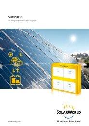 Eigenstrom gewinnen – Kosten sparen SunPac und ... - Mare Solar