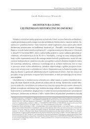 Jacek Radziewicz-Winnicki, Architektura Gliwic i jej przemiany