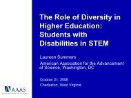 The Role of Diversity in Higher Education: Students with Disabilities ...