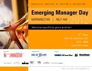 Emerging Manager Day - FinanceCom Asset Management