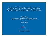 DMH Update for MHSOAC Presentation - Mental Health Services ...