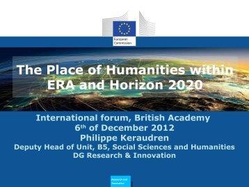 Dr. Philippe Keraudren, DG Research, European ... - LiCoRN