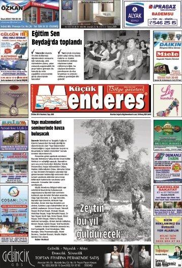 20 Ekim Tarihli Küçükmenderes Gazetesi