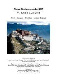 China Studienreise der SMS_2011 - SMS Internationale ...