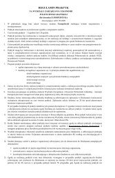REGULAMIN PRAKTYK - Wydział Zarządzania i Ekonomii