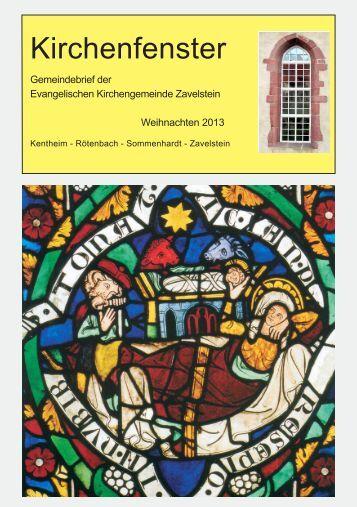 Kirchenfenster - Evangelische Kirchengemeinde Zavelstein