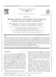 Molecular and genetic characterisation of the host - Instituto de ...