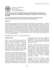 evaluation of insecticide resistance in two strains of fruit fly ...