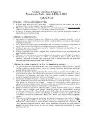 Condições Contratuais do Seguro de Proteção contra Roubo - HSBC