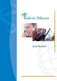 Coral FlexSet Family (brochure) - Tadiran Telecom