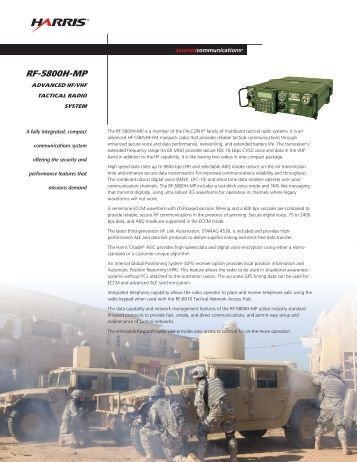 Harris rf 5800h mp Manual