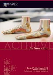 New Courses 2012 - The University of Western Australia