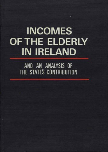 Incomes of the Elderly in Ireland - National Council on Ageing and ...