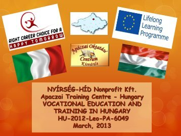 vocational education and training in hungary - Galileo.it
