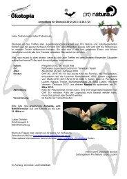 Notfallzettel für alle Teilnehmerinnen und Teilnehmer von Ökotopia ...