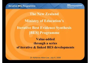 Adrienne Alton-Lee (New Zealand) - Teaching and Learning ...