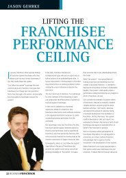 liFting the - Business Franchise Magazine