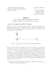 Introduction to Mobile Robotics - Exercise Sheet - Albert-Ludwigs ...