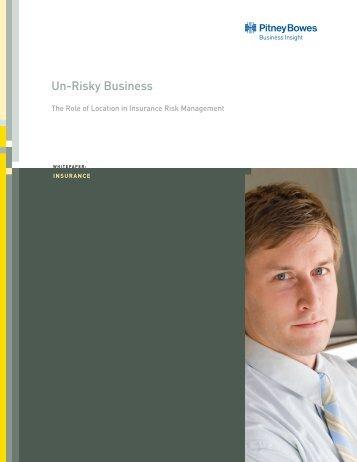 Un-Risky Business - Pitney Bowes Software