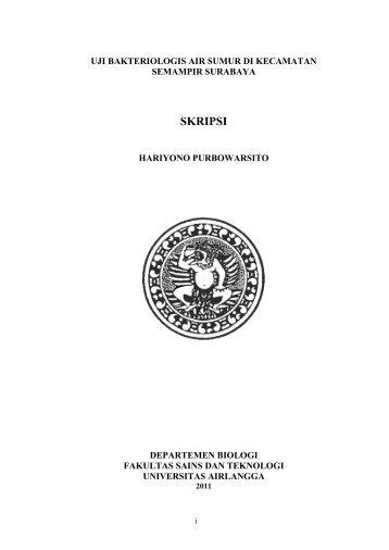 naskah seminar proposal skripsi hal departemen biologi unair fst unair ...