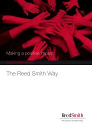 To learn more about the CSR programme in EMEA ... - Reed Smith