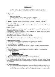 Regulamin - Gminne Centrum Kultury i Kultury Fizycznej w Jedlińsku