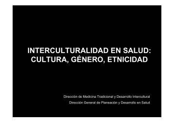 Cultura, Género, etnicidad - Dirección General de Planeación y ...