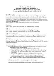 Bedömning och psykodynamisk diagnostik