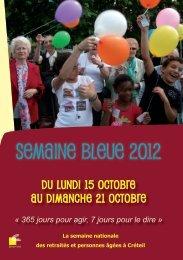 semaine bleue Créteil 2012