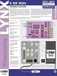 MiniModules SERIES - LYNX Technik AG