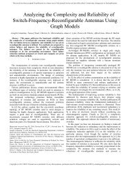 Reconfigurable Antenna Design and Optimization - Cosmiacpubs.org