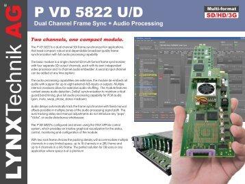 Dual Frame Synchronizer - LYNX Technik AG
