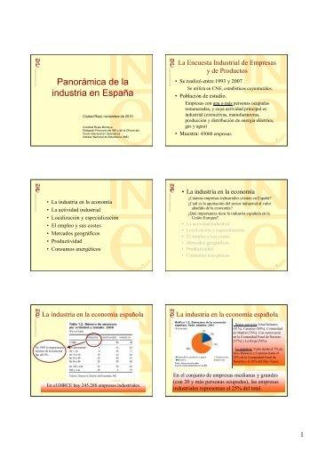 Panorámica de la industria en España - Estadística e Investigación ...