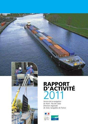Rapport d'activité 2011 - service navigation Nord-Pas de Calais