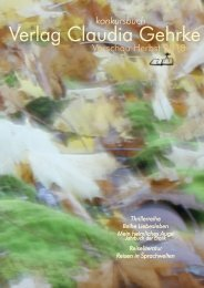Leseprobe - konkursbuch Verlag Claudia Gehrke