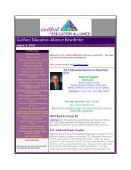 Aug 4, 2010 - Guilford Education Alliance
