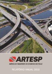 RELATÓRIO ANUAL- ARTESP 2010 | 1