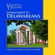 Commitment to Delawareans Brochure - English - University of ...