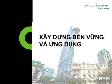 Xây Dựng Bền Vững và Ứng Dụng Nội dung - CBRE Vietnam