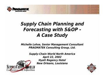 Supply Chain Management Case Analysisforecasting And Planning