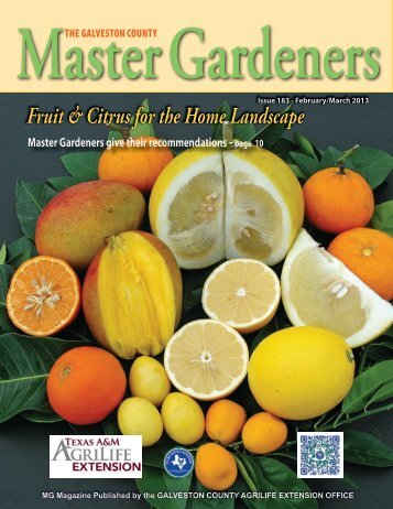 Fruit & Citrus for the Home Landscape - Aggie Horticulture - Texas ...