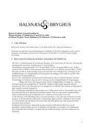 Referat af ordinær generalforsamling 25. maj 2013 - Halsnæs Bryghus