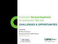 Vietnam Serviced Apartment Investment Market - CBRE