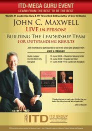 John C. Maxwell - ITD GROUP - Institute of Training and Development