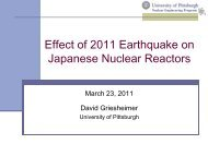 Effect of 2011 Earthquake on Japanese Nuclear Reactors